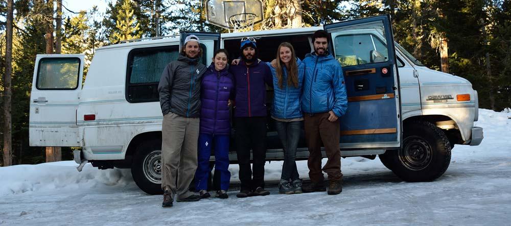 Diego, Rosario, Adam, Erin  y Luís en casa de Erin y Adam,  Jackson Hole