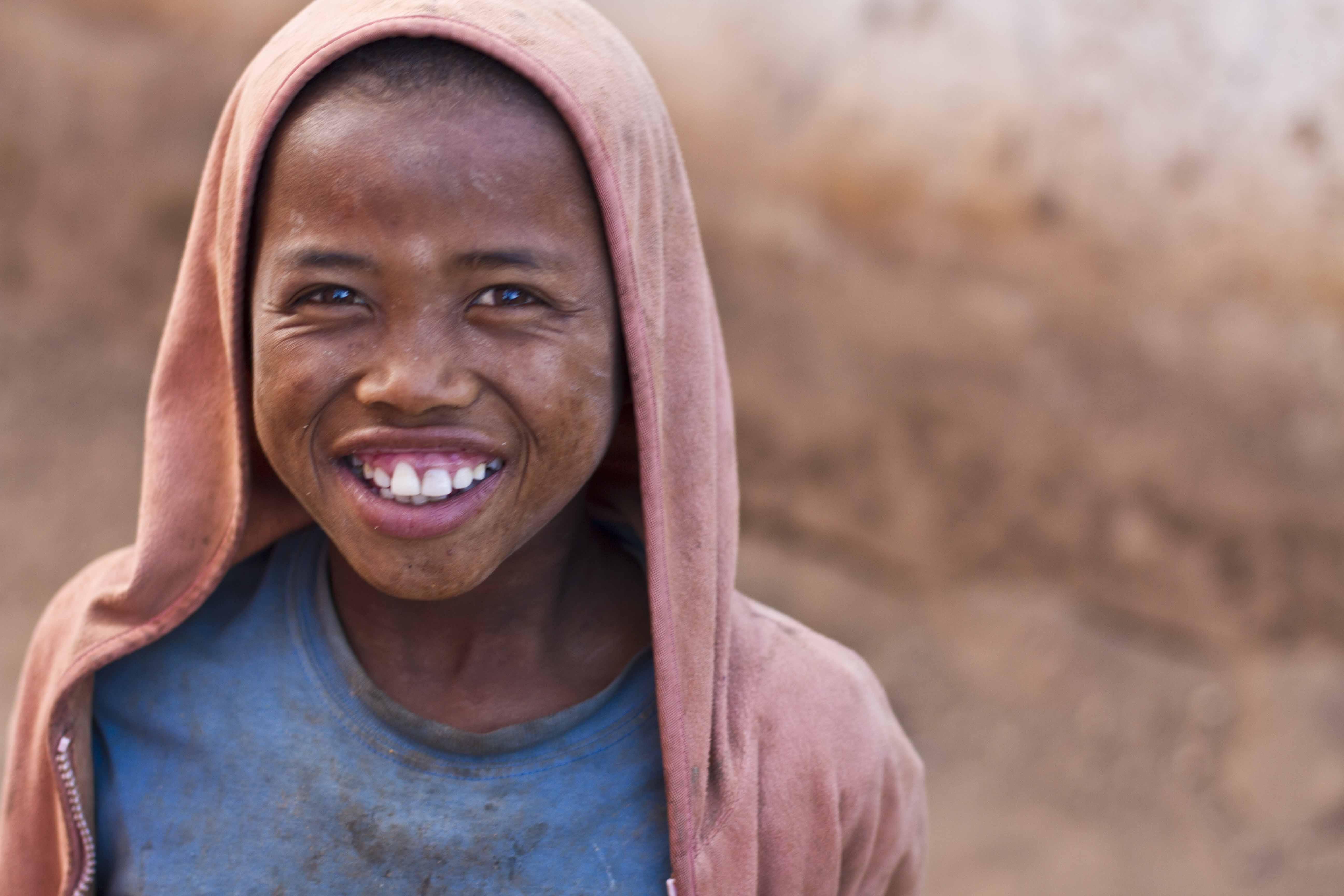 La alegría de los Malagasis es contagiosa.