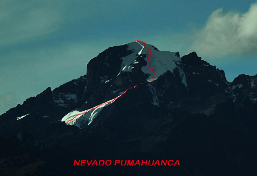 Así quedo la vía al Nevado Pumahuanca
