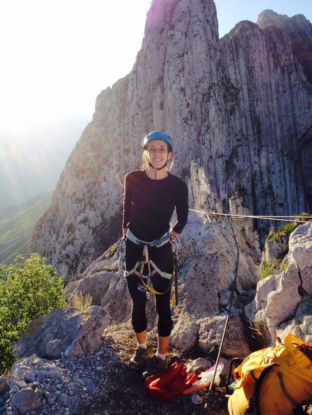 Margarita Cardoso en la cumbre de La vida que puedes salvar (tomada por Fernanda Rodriguez)