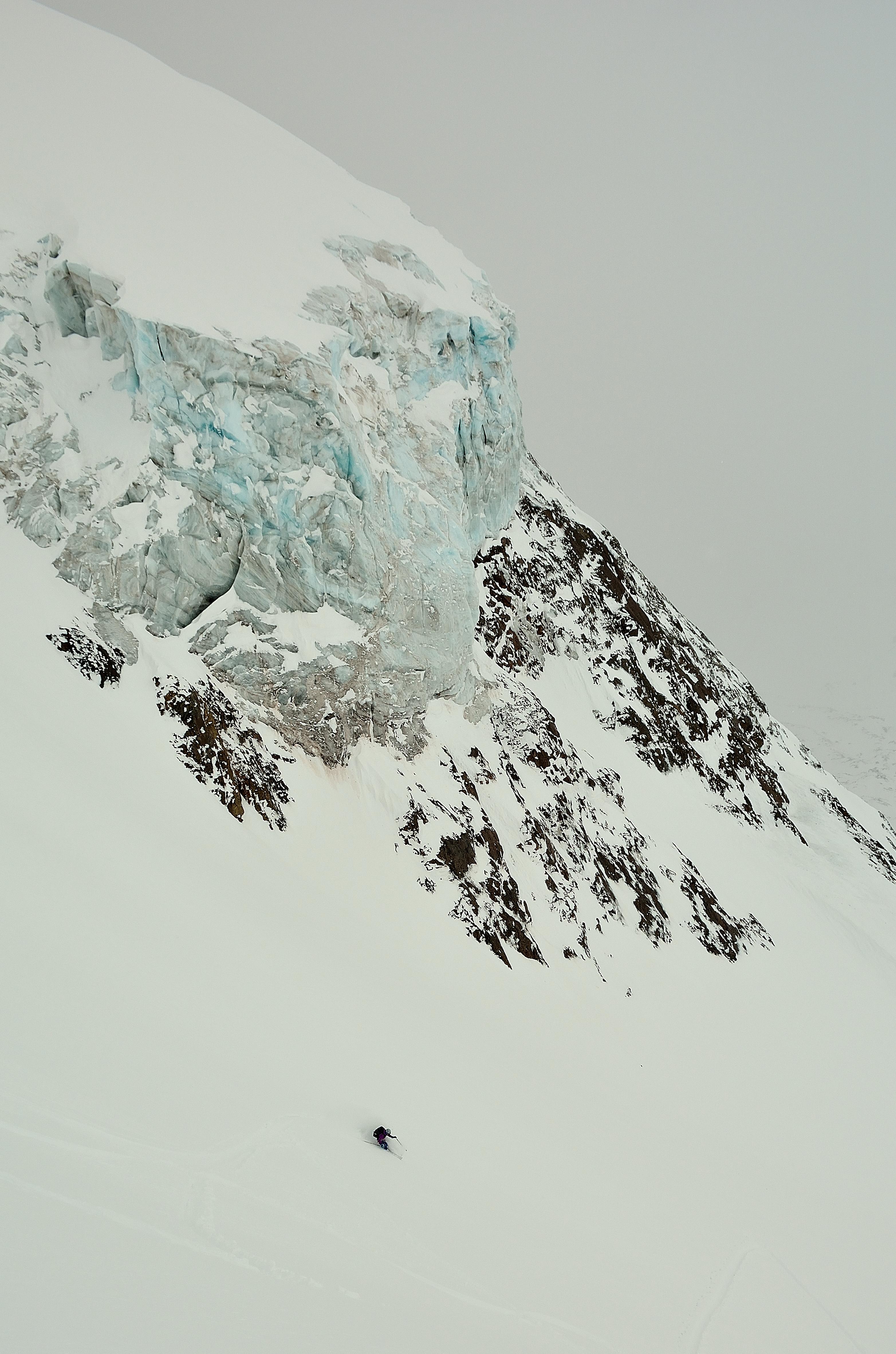 El glaciar, hermoso, que afortunada de estar cerca de él. Foto: Diego Sáez