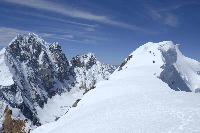 Arista cumbre Rasack. (6.000 m.s.m) Foto Diego Cortez